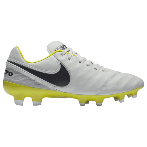 Nike Tiempo Legacy II FG Pure Platinum/Purple Dynasty/Electric Lime/White - Nike Soccer Shoes Origin