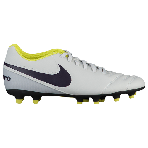 Nike Tiempo Rio III FG - Women's - Soccer - Shoes - Pure Platinum/Purple  Dynasty/Electric Lime/White