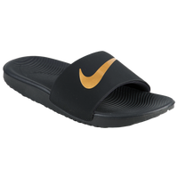 Nike Kawa Slide - Boys' Grade School - Black / Gold