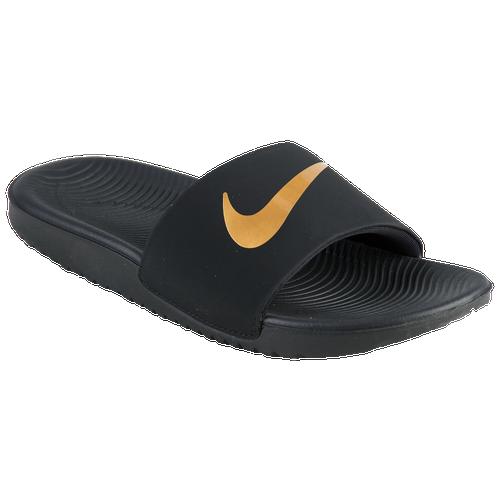 1ea9caf9ca34d Nike Kawa Slide - Boys  Grade School - Casual - Shoes - Black Metallic Gold
