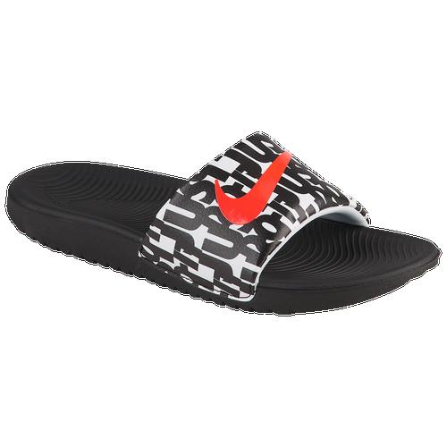 33d969506 Nike Kawa Slide - Boys  Grade School - Nike - Casual - Total Orange Photo  Blue Gamma Blue White
