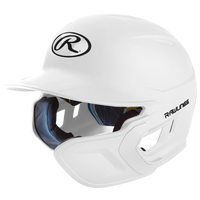 Rawlings Mach Ext Junior Batting Helmet - Grade School - White