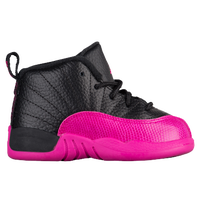 Jordan Retro 12 - Girls  Toddler - Black   Pink 115901728