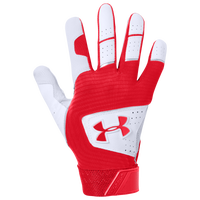 Under Armour Clean-Up Batting Gloves - Grade School - Red / Red