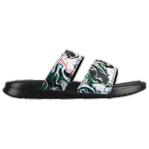 f8e7efde34cf6 Nike Benassi Duo Ultra Slide - Women s - Casual - Shoes - White Metallic  Silver