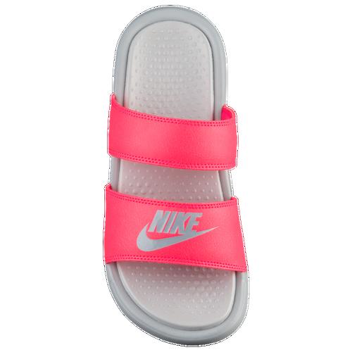 Nike Benassi Duo Ultra Slide - Women's - Casual - Shoes - Solar Red/Wolf  Grey