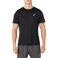 ASICS® Silver Short Sleeve T-Shirt - Men's - Black