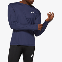 ASICS® Silver Long Sleeve Top - Men's - Navy