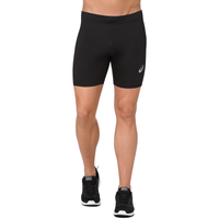 "ASICS® 7"" Silver Sprinter Shorts - Men's - All Black / Black"