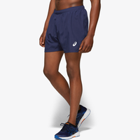 "ASICS® 5"" Silver Shorts - Men's - Navy"