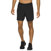 "ASICS® Road 7"" 2N1 Running Shorts - Men's - Black"