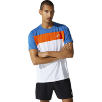 ASICS® Race Running Top - Men's - White / Blue