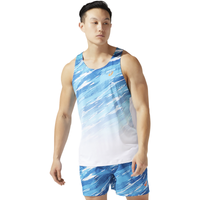 ASICS® Running Singlet - Men's - Blue / White