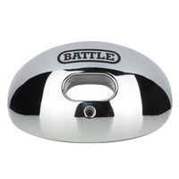 Battle Sports Oxygen Mouthguard - Adult - Silver / Silver