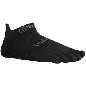 Injinji Lightweight No Show Toe Socks - Black