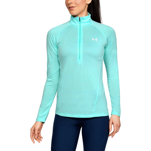 Under Armour Tech 1/2 Zip - Women's Running - Tropical Tide/Tropical Tide/Metallic Silver