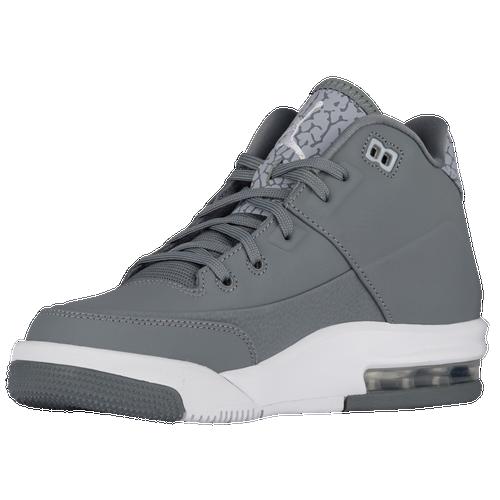 Jordan Flight Origin 3 - Boys' Grade School - Basketball - Shoes - Cool Grey/Metallic  Silver/White