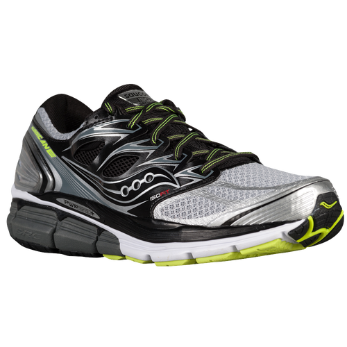 Cheap Wholesale Running Shoes - Mens Saucony Hurricane ISO Silver/Black/Citron