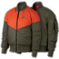 b851ed838ef4 Nike Reversible AF1 Woven Jacket - Men s - Olive Green   Orange