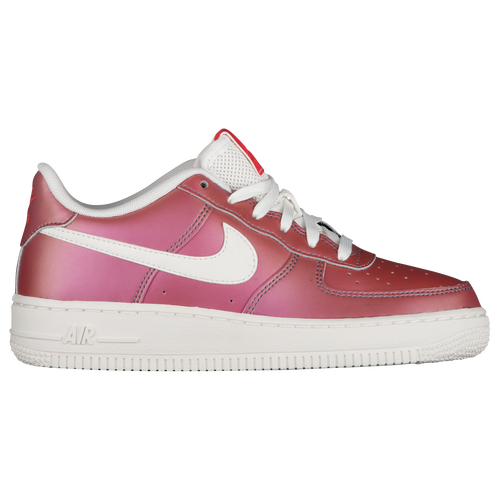 Nike Air Force 1 Low - Boys' Grade School - Red / Off-White