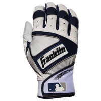 Franklin Powerstrap Batting Gloves - Men's - White / Navy