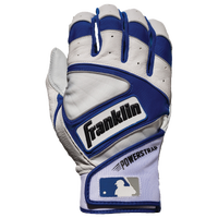 Franklin Powerstrap Batting Gloves - Men's - White / Blue