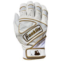 Franklin Powerstrap Batting Gloves - Men's - White / Gold
