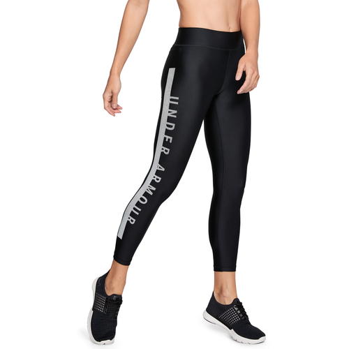 Under Armour Armour Graphic Ankle Crop Tights - Women's Training - Black/White 20587001