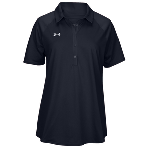Under Armour Team Pinnacle Polo - Women's - Midnight Navy/White