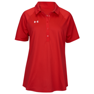 Under Armour Team Pinnacle Polo - Women's - Red/White