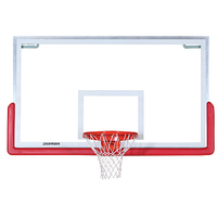 Porter Center Strut Rectangular Glass Backboard