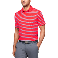 Under Armour Performance Golf Polo 2.0 Divot Stripe - Men's - Red