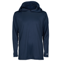 Badger Sportswear B-Core L/S Hood - Boys' Grade School - Navy / Navy