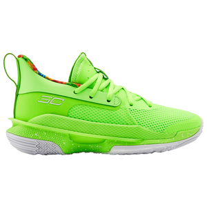 Under Armour Curry 7 - Boys' Grade School - Curry, Stephen - Phosphor Green/Phosphore Green/White