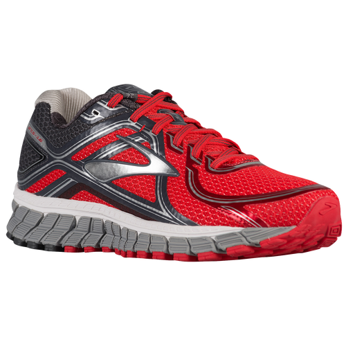 Brooks Adrenaline GTS 16 - Men's - Running - Shoes - High Risk Red /Anthracite/Silver