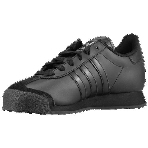 adidas Originals Samoa Boys' Preschool Training Shoes Black/Black/Metallic Silver 21245001