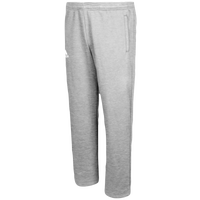 adidas Team Fleece Pants - Boys' Grade School - Grey / White