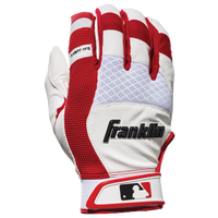 Franklin X-Vent Pro Shok Batting Gloves - Men's - White / Red