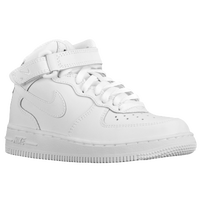 Nike Air Force 1 Mid - Boys\u0027 Preschool - All White / White