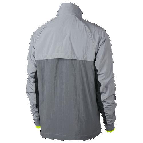 Nike Half-Zip Woven Archive Jacket - Men s - Casual - Clothing - Wolf Grey Cool  Grey Volt Black 6dbd1e818
