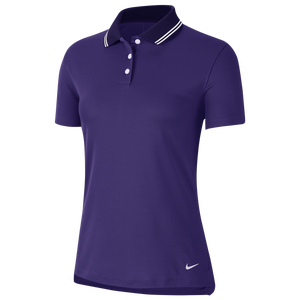 Nike Dry Victory Solid Golf Polo - Women's - Court Purple/White/White