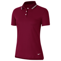 Nike Dry Victory Solid Golf Polo - Women's - Maroon