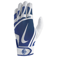 Nike Huarache Edge Batting Gloves - Grade School - White / Blue