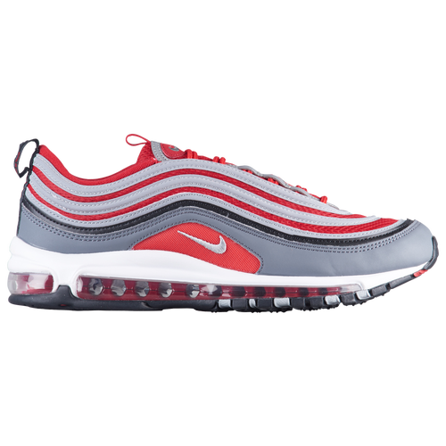 Nike Air Max '97 - Men's - Casual - Shoes - Dark Grey/Wolf Grey/Gym  Red/White/Black