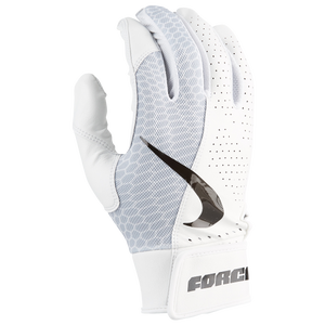 Nike Force Edge Batting Glove - Men's - White/White/Black