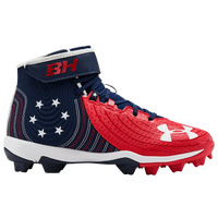 Under Armour Harper 4 Mid RM Jr LE - Boys' Grade School - Red / Navy