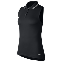 Nike Dry Victory Sleeveless Golf Polo - Women's - Black