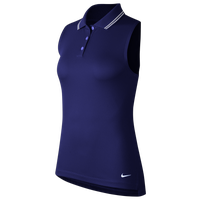 Nike Dry Victory Sleeveless Golf Polo - Women's - Blue