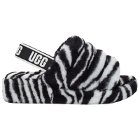 UGG Fluff Yeah Slides - Women's - Black / White