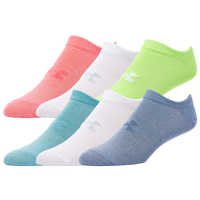 Under Armour Essential No Show 6pk Socks - Women's - White / Blue